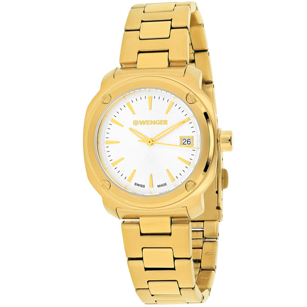 Ladies Gold Edge Index Stainless Steel Analogue Wenger Watch 01.1121.107