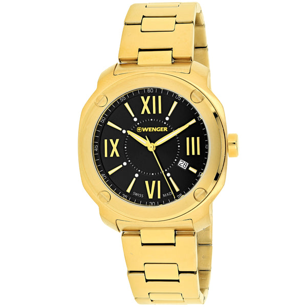 Men's Gold Edge Romans Stainless Steel Analogue Wenger Watch 01.1141.123