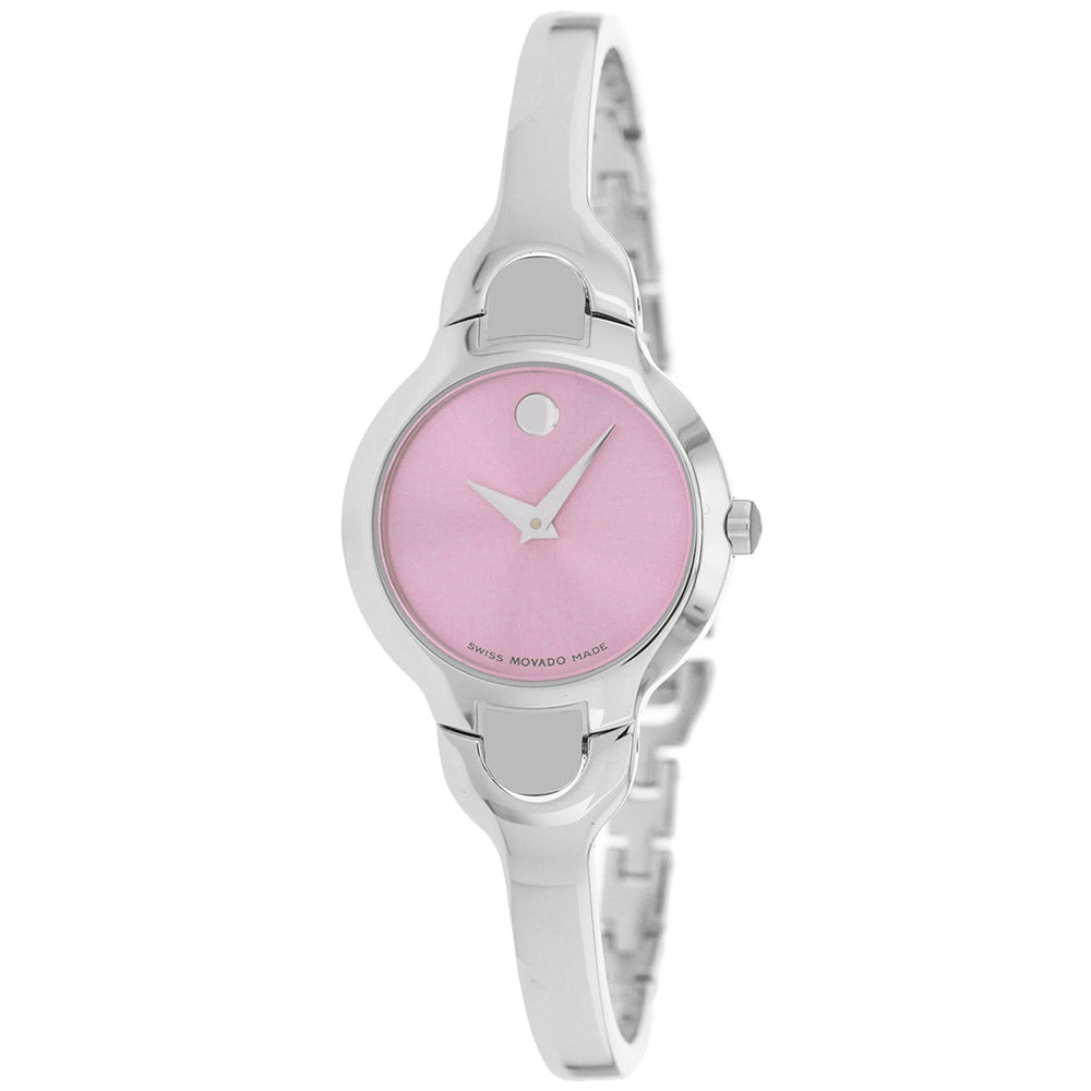 Ladies Silver Kara Stainless Steel Analogue Movado Watch 605284