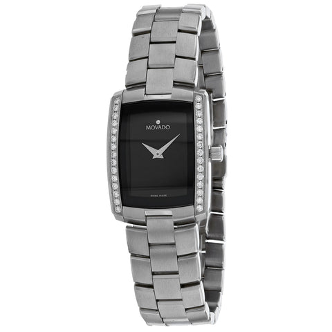 Ladies Silver Eliro Stainless Steel Analogue Movado Watch 605470