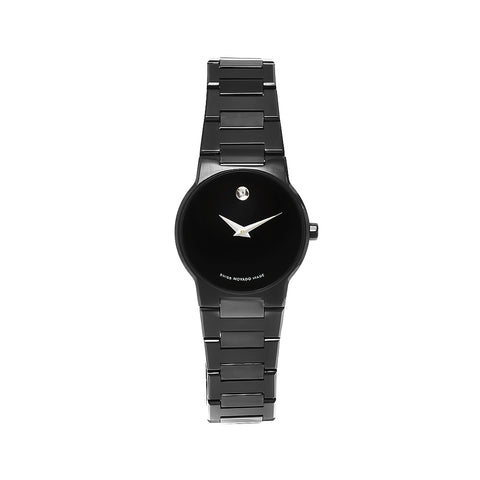 Ladies Black Safiro Stainless Steel Analogue Movado Watch 605900