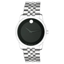 Men's Black Museum Analogue Stainless Steel Movado Watch 606504
