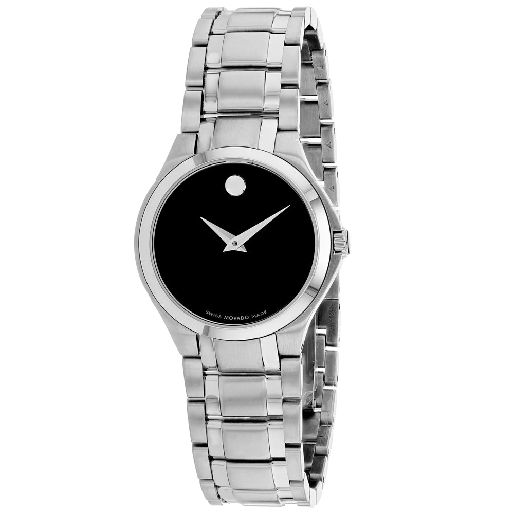 Ladies Silver Swiss Collection Stainless Steel Analogue Movado Watch 606784