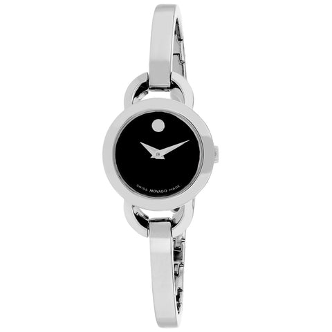 Ladies Silver Rondiro Stainless Steel Analogue Movado Watch 606796