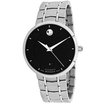 Men's Black Automatic Stainless Steel Movado Watch 606914