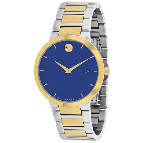 Men's Modern Classic Stainless Steel Analogue Movado Watch 607356