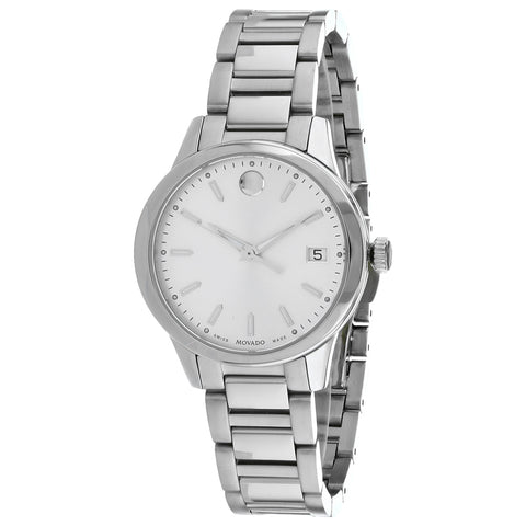 Ladies Silver Classic Stainless Steel Analogue Movado Watch 607364