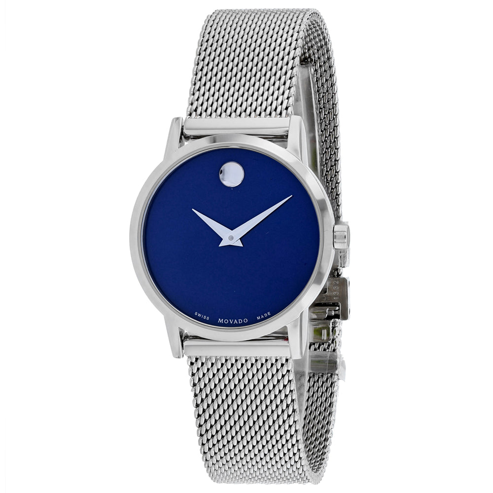 Ladies Silver Museum Classic Stainless Steel Analogue Movado Watch 607425