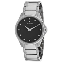 Men's Black Ario Stainless Steel Analogue Movado Watch 607449