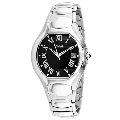 Men's Silver Classic Stainless Steel Analogue Jovial Watch 08031-MSM-04