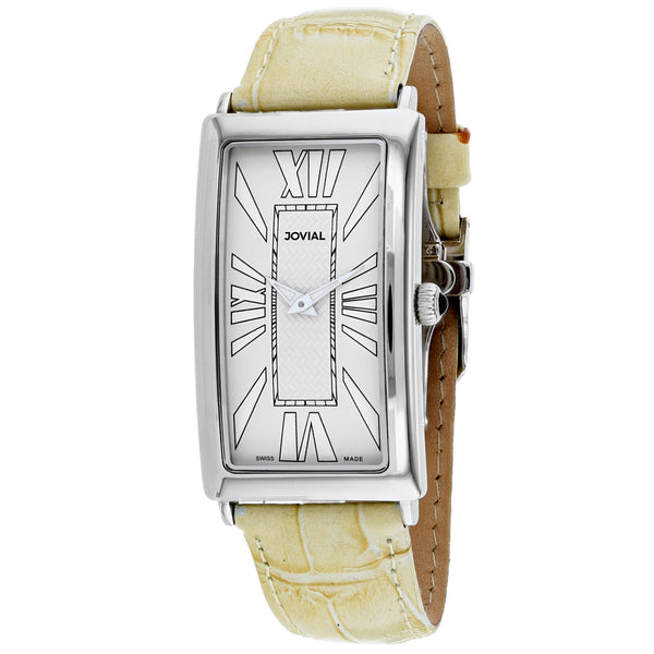 Men's Beige Classic Leather Analogue Jovial Watch 08036-MSL-10