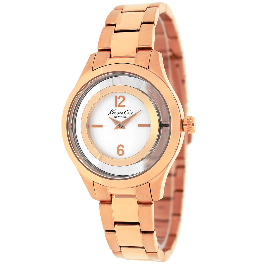 Ladies Rose Gold Classic Stainless Steel Analogue Kenneth Cole Watch 10026947