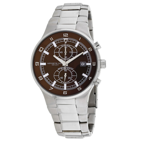 Ladies Silver Classic Stainless Steel Chronograph Kenneth Cole Watch 10036277