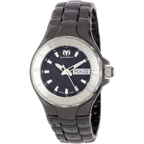 Ladies Black Cruise Stainless Steel Analogue TechnoMarine Watch 110026C