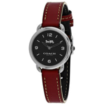 Ladies Red Delancey Leather Analogue Coach Watch 14502792