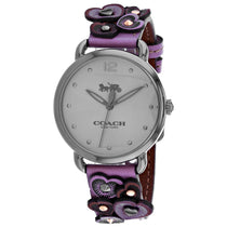 Ladies Purple Delancey Leather Analogue Coach Watch 14503080