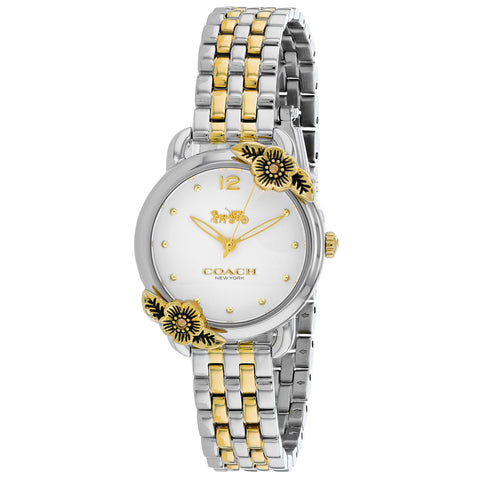 Ladies Delancey Tea Rose Stainless Steel Analogue Coach Watch 14503212