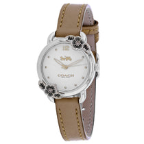 Ladies Brown Delancey Leather Analogue Coach Watch 14503238