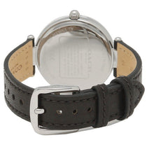 Ladies Black Park Leather Analogue Coach Watch 14503283