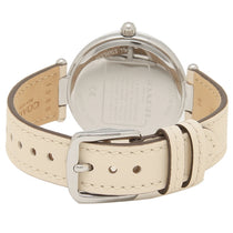 Ladies White Park Leather Analogue Coach Watch 14503284