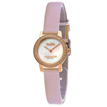 Ladies Pink Audrey Leather Analogue Coach Watch 14503363