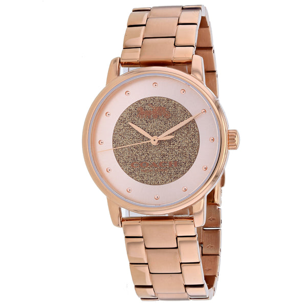 Ladies Rose Gold Classic Stainless Steel Analogue Coach Watch 14503492
