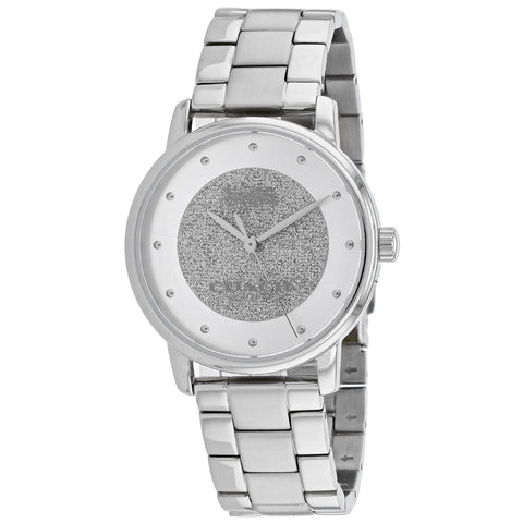 Ladies Silver Classic Stainless Steel Analogue Coach Watch 14503493