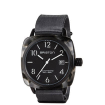 Men's Black Trendsetters Nylon Analogue Briston Watch 15240.PBAM.GT.3.NG