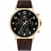 Men's Black Chronograph Tommy Hilfiger Watch 1710379