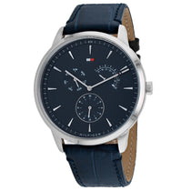 Men's Blue Brad Leather Analogue Tommy Hilfiger Watch 1710387