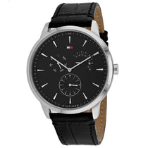 Men's Black Classic Leather Analogue Tommy Hilfiger Watch 1710391