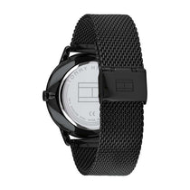 Men's Black Gent Stainless Steel Mesh Analogue Tommy Hilfiger Watch 1710392