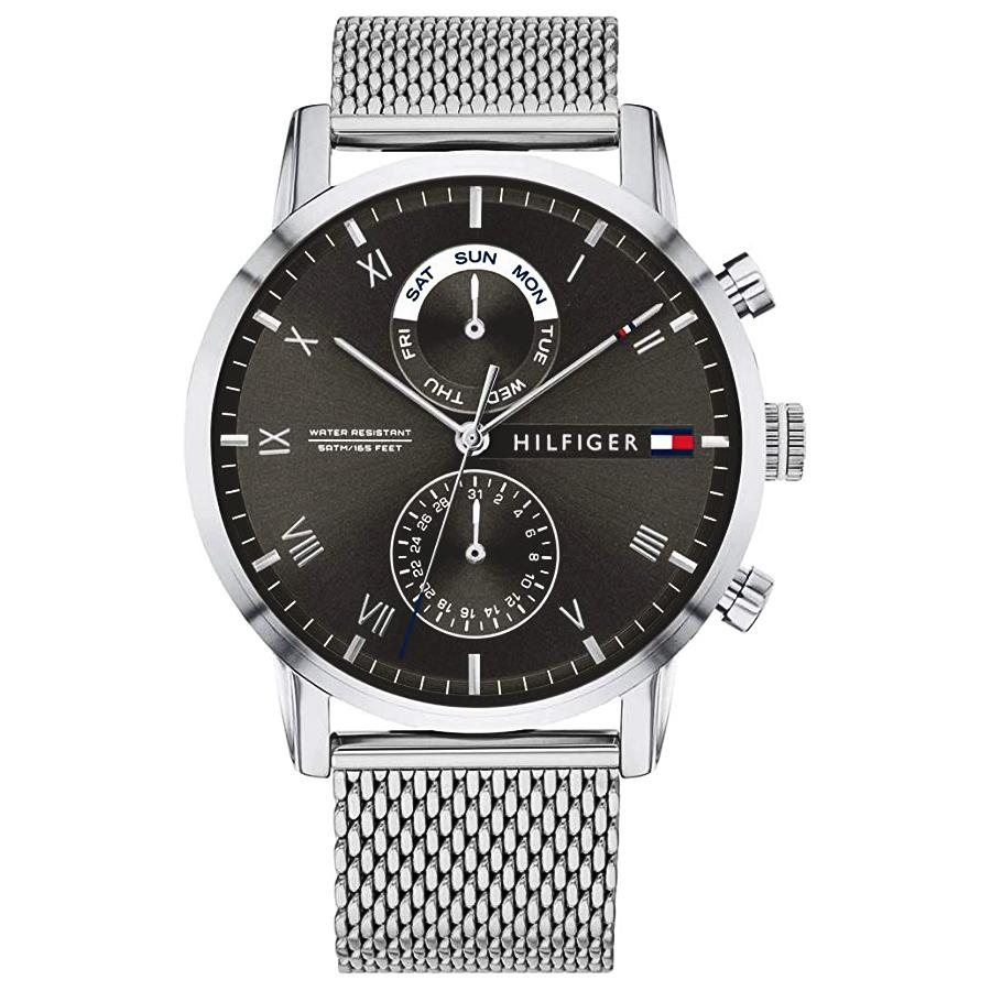 Men's Kane Silver Mesh Strap Chronograph Tommy Hilfiger Watch 1710402