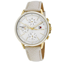 Men's Cream Sport Leather Analogue Tommy Hilfiger Watch 1781790