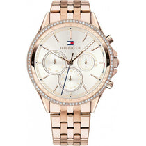 Ladies Rose Gold Diamond Chronograph Tommy Hilfiger Watch 1781978