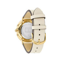 Ladies White Jenna Leather Analogue Tommy Hilfiger Watch 1782035