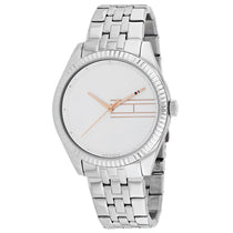Ladies Silver Analog Stainless Steel Analogue Tommy Hilfiger Watch 1782080
