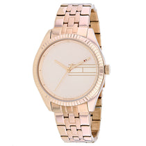 Ladies Rose Gold Classic Stainless Steel Analogue Tommy Hilfiger Watch 1782082