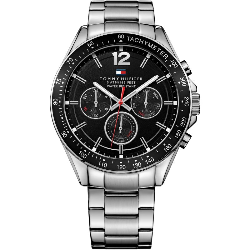 Men's Black Chronograph Tommy Hilfiger Watch 1791104