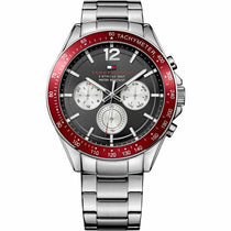 Men's Black Chronograph Tommy Hilfiger Watch 1791122