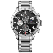 Men's Cool Sport Silver Stainless Steel Chronograph Tommy Hilfiger Watch 1791141