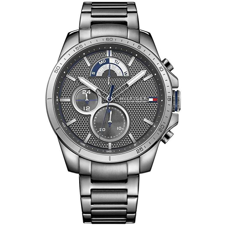 Men's Cool Sport Gunmetal Grey Chronograph Tommy Hilfiger Watch 1791347