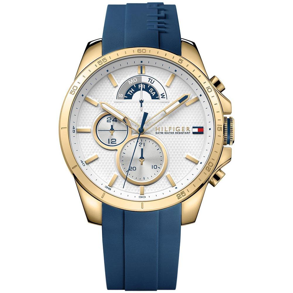 Men's Decker Blue Rubber Strap Chronograph Tommy Hilfiger Watch 1791353