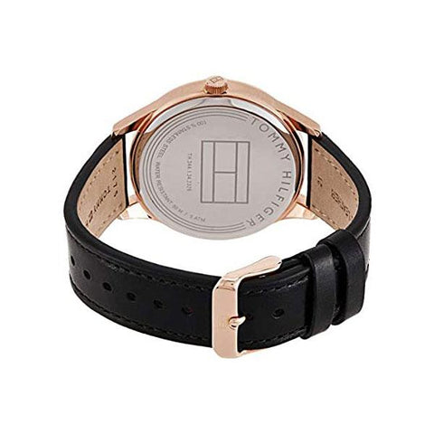 Men's Damon Black Leather Strap Tommy Hilfiger Watch 1791419