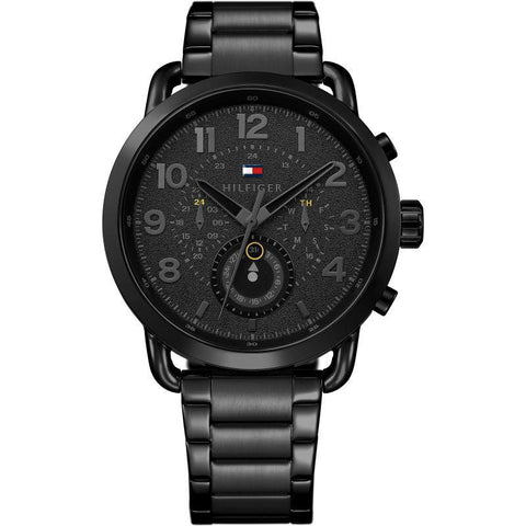 Men's Briggs Black Stainless Steel Tommy Hilfiger Watch 1791423