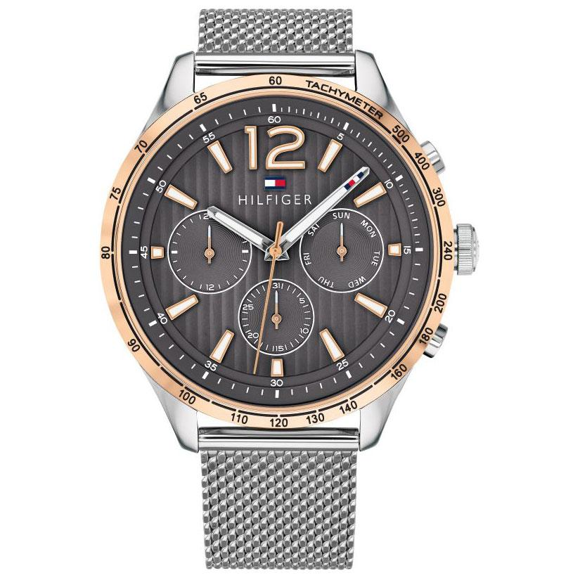 Men's Gavin Silver Mesh Chronograph Tommy Hilfiger Watch 1791466