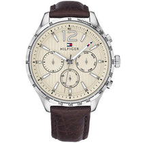 Men's Brown Leather Chronograph Tommy Hilfiger Watch 1791467