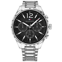 Men's Black Chronograph Tommy Hilfiger Watch 1791469