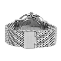 Men's Silver Analog Stainless Steel Mesh Analogue Tommy Hilfiger Watch 1791505