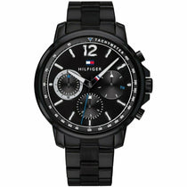 Men's Black Chronograph Tommy Hilfiger Watch 1791529